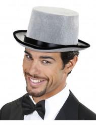 Chapéu alto cinzento e preto adulto