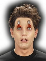 Falsa ferida olhos agrafados adulto Halloween