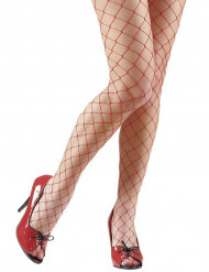 Collants de rende vermelho mulher