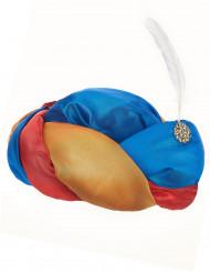 Chapéu oriental com pena branca adulto