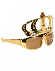 Óculos com coroa de rei adulto