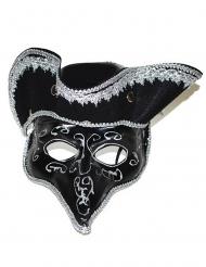 Máscara veneziana com tricórnio adulto