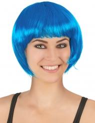 Peruca curta azul mulher
