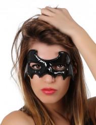 Mascarilha morcego preta Halloween