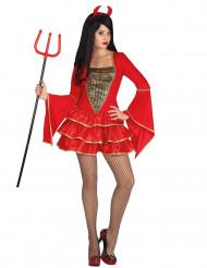 Disfarce diabo mmulher Halloween