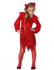 Disfarce diabo menina Halloween