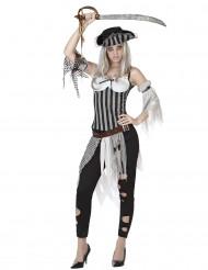 Disfarce pirata zumbi mulher Halloween
