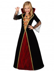 Disfarce vampira elegante menina Halloween