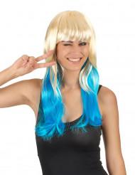 Peruca Tie & Dye louro e azul mulher