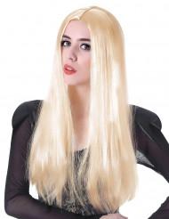 Peruca comprida loira mulher - 60 cm