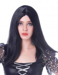Peruca comprida preta - mulher