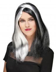Peruca comprida mulher Halloween