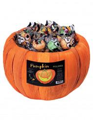 Caixa com rebuçados abóboras Halloween