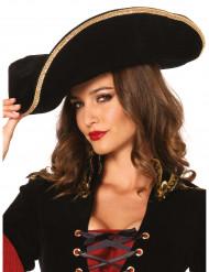 Chapéu de Pirata para adulto luxo