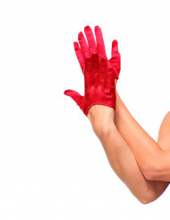 Mini luvas vermelhas mulher