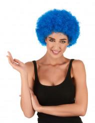 Peruca afro/ palhaço azul adulto