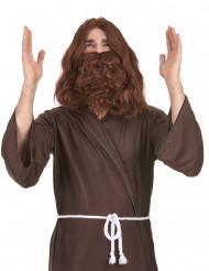 Peruca com barba Jesus homem