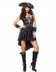 Disfarce pirata preto mulher