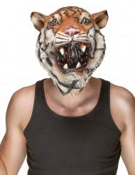 Máscara de látex tigre adulto
