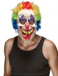 Máscara de látex palhaço adulto Halloween