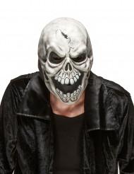 Máscara de látex caveira de terror adulto Halloween