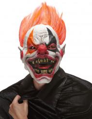 Máscara de látex palhaço do inferno adulto Halloween