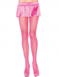 Collants rede cor-de-rosa fluo