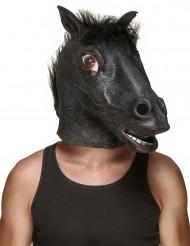 Máscara de látex cavalo preto adulto