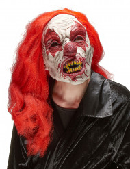 Máscara de látex palhaço de terror adulto Halloween