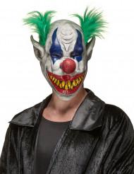 Máscara de látex palhaço horroroso adulto Halloween
