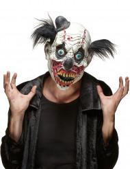 Máscara de látex palhaço sangrento adulto Halloween