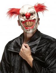 Máscara de látex palhaço assustador adulto Halloween