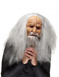 Máscara de látex bruxo idoso adulto Halloween