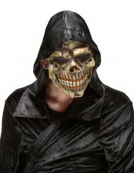 Máscara de látex caveira das trevas adulto Halloween