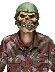 Máscara de látex de cadáver de soldado adulto Halloween