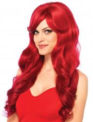 Peruca Comprida vermelha mulher