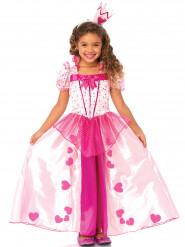 Disfarce rosa de princesa para menina
