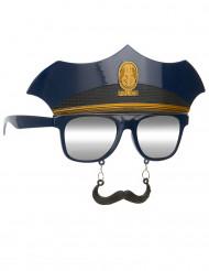 Óculos com bigode polícia adulto