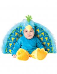 Disfarce Premium de pavão para bébé