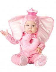 Disfarce elefante cor-de-rosa para bébé - Clássico