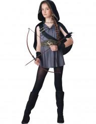 Disfarce caçadora para menina - Premium
