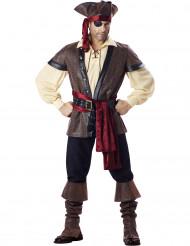 Disfarce Premium de Pirata para homem