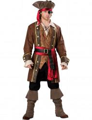 Disfarce Premium de capitão pirata para homem