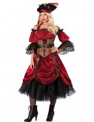 Disfarce Premium de Pirata para mulher