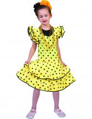 Disfarce flamenco amarelo menina