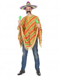 Poncho Mexicano malaguetas para adulto