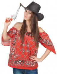 T-shirt cowboy mulher