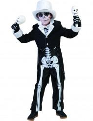 Disfarce esqueleto chique menino Halloween