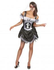 Disfarce esqueleto chique mulher Halloween