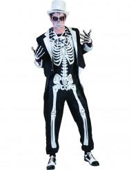 Disfarce esqueleto chic homem halloween